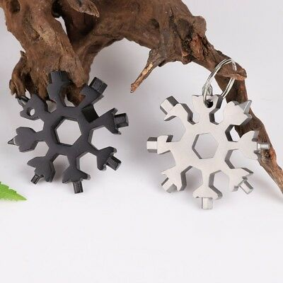 18-in-1 Multi-tool Card Combination Compact Outdoor Snowflake Tool Card Portable