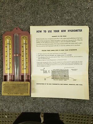 Vintage Ohio Home Hygrometer Thermometer C-624 in Box with Instructions