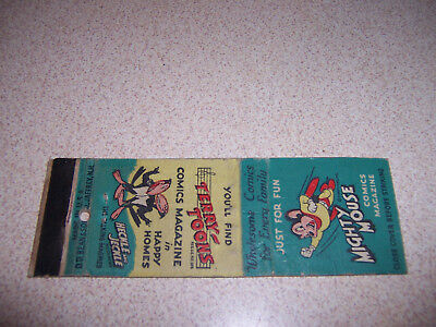1940s MIGHTY MOUSE & HECKLE and JECKLE TERRY-TOONS COMICS VTG MATCHBOOK COVER