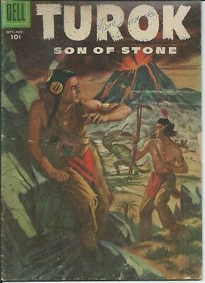 The Unique! The Rare! The Awesome! Turok Son Of Stone # 5 (1956) Vg.