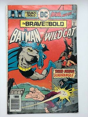 Brave And Bold 127 1976 Dc Batman Wildcat Rare Printing Error