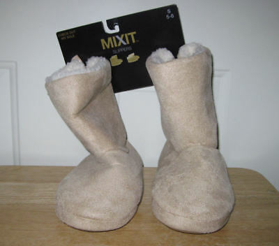 344df994e771 WOMENS  MIXIT SLIPPERS Microsuede Foldover Zipper Boot Size S (5-6) -   14.99