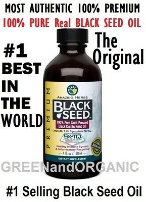 Amazing Herbs Black Seed 100% Pure Cold-Pressed Black Cumin Oil 4 oz Nigella