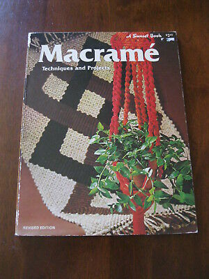 Macrame' Techniques & Projects: A Sunset Book: Vintage 1976 :Preloved