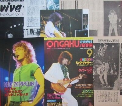 1980 Led Zeppelin Jimmy Page Robert Plant Clipping Japan Magazine G2 P14 10Page