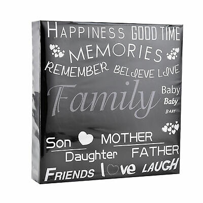 "Family photo book , Arpan Ring Binder Photo Album 4x6"" for 500 Holds Black Txt"