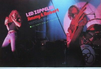 1972 Led Zeppelin George Harrison & Eric Clapton Clipping Japan Magazine U1 P14