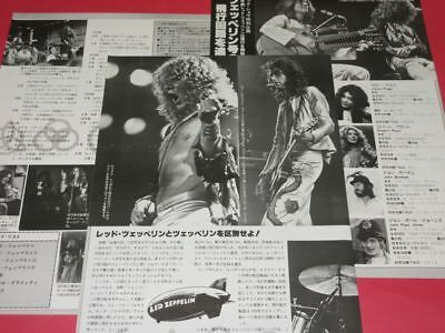 1978 Led Zeppelin Robert Plant Jimmy Page Clipping Japan Magazine K3 V16 5Page