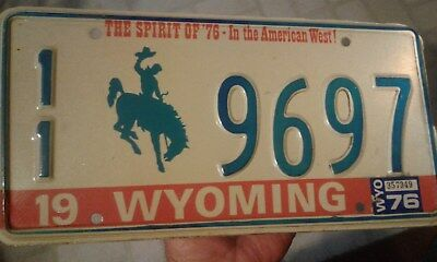 1976 Wyoming License Plates - The Spirit of '76 in the The American West Car Tag