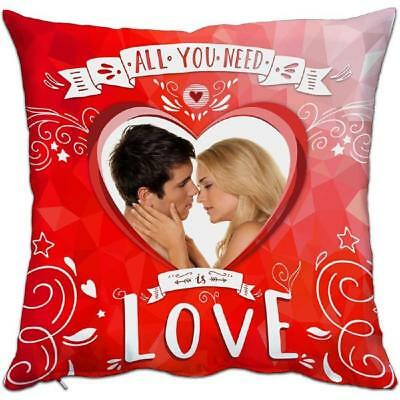Cuscino Love All You Need 38x38 cm Personalizzabile Foto o Frasi PS 10339 Gadget