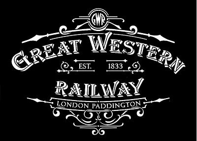 high detail airbrush stencil great western railway sign FREE POSTAGE