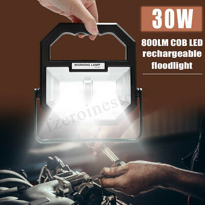Rechargeable 30W COB LED USB Flood Light Camping Outdoor Spot Work Lamp 800LM