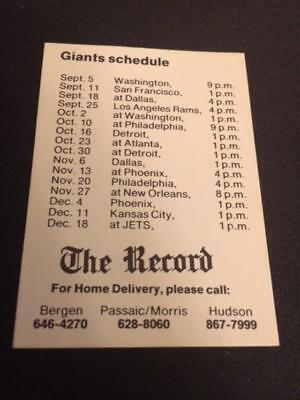 1988 New York Jets & Giants 4 Football Pocket Schedules The Record Mini Version