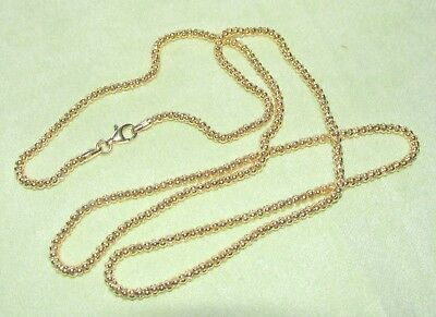 Solid 14K Yellow Gold ROSS SIMONS 2mm Round Chain Necklace 6.5 Grams Not Scrap