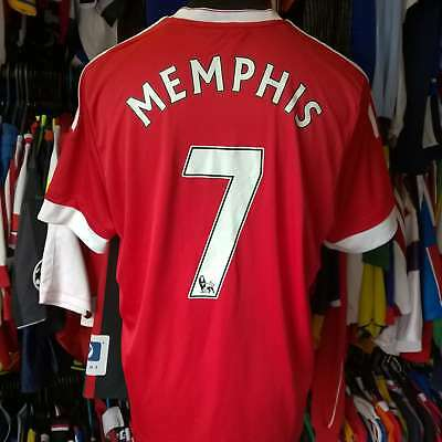 b5aca329c77 Manchester United 2015 Home Football Shirt  7 Memphis Adidas Jersey Size  Adult L