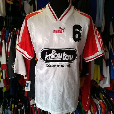 White And Red Vintage Football Shirt 1990S Kiloutou #6 Puma Jersey Size Adult L
