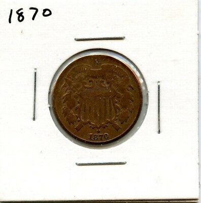 1870 Two Cent Piece..starts @ 2.99