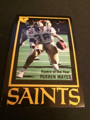 1987 New Orleans Saints Football Pocket Schedule Lite Version Rueben Mayes