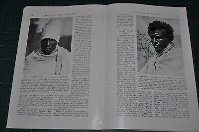 1928 ETHIOPIA magazine article, natives, history, Abyssinia, 65 photos