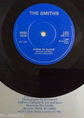 """THE SMITHS -Hand In Glove- Later press UK 7""""with London Address & Solid Centre"""