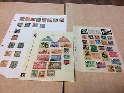 China Stamp Collection on 3 sheets