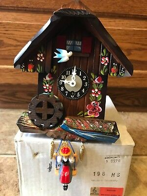 Cuckoo Clock MAPSA Edelweiss Musical Seesaw Clock Made in Germany With Box & Key