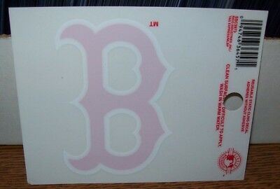Boston Red Sox B Logo 3X4 Small Static Decal Rico Sticker Decal