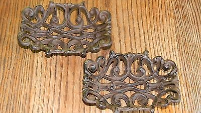 CAST IRON-Old Style Rustic Brown   Victorian Soap Dish Set Of 2 Table and Bath