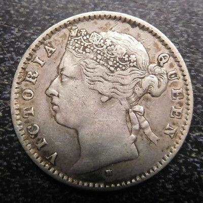 British Commonwealth Silver Coin,  Mauritius, 20 Cents, KM# 11.1,1877H
