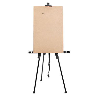 Artist Adjustable Folding Easel Iron Stand Tripod Display Exhibition Carry Bag