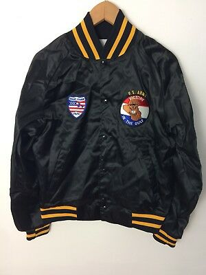 Deadstock Vintage 1991 Desert Storm US Army Satin Jacket Size Small Made In USA