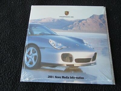 2001 Porsche CD-Rom Press Kit 996 Carrera GT 911 Turbo Media Info Brochure