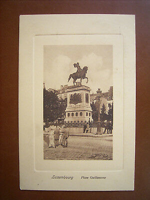 Luxemburg Luxembourg - Place Guilleaume , Denkmal , gel.1910 , TOP !