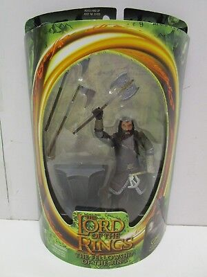 Toy Biz Lord of the Rings-Fellowship of the Ring-Gimli Battle Axe Figure MIP