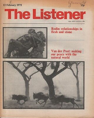 THE LISTENER (13 February 1980) LAURENS VAN DER POST - EUTHANASIA - FRANK MUIR