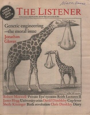 THE LISTENER (18 November 1982) GENETIC ENGINEERING - DAVID DIMBLEBY - MARQUEZ