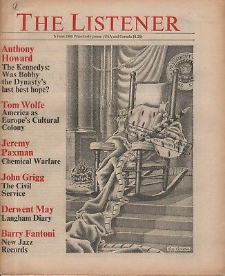 THE LISTENER (5 June 1980) - TOM WOLFE - JEREMY PAXMAN ON CHEMICAL WARFARE