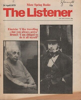 THE LISTENER (24 April 1978) STUART HAMPSHIRE -  HAILSHAM - BRUNEL - HENRYV REED