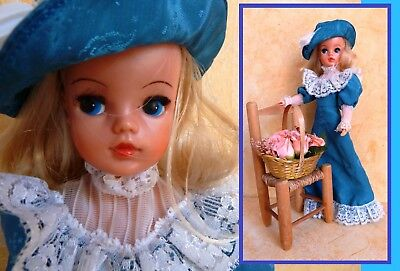 Vintage Pedigree blonde ballerina body Sindy doll in blue my fair Sindy outfit