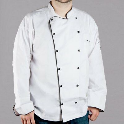 Chef Revival Brigade Jacket White With Black Piping Men's Small