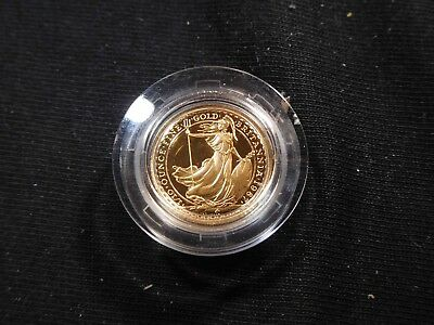 G14 Great Britain 1987 GOLD Britannia 1/10 Oz. Proof In Capsule