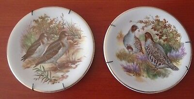 Harry Hancock (Tunstall) Ltd Rydalia Ware - 2 Small Plates pheasants partridges