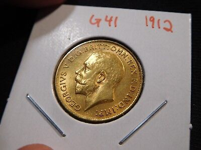 G41 Great Britain 1912 GOLD 1/2 Sovereign
