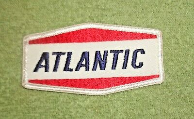 Atlantic Oil and Gas Embroidered Patch- White Background w/ Blue and Red