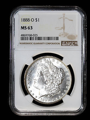 1888 O Morgan Silver Dollar Coin Ngc Ms63 #768-025
