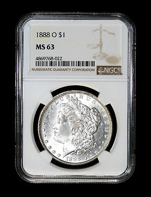1888 O Morgan Silver Dollar Coin Ngc Ms63 #768-022