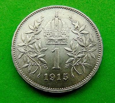 TOP  QUALITY  SILVER  1915  1  KORONA  from  HUNGARY  .....LUCIDO_8  COIN