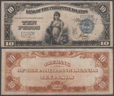 1933 Bank of the Philippine Islands 10 Pesos