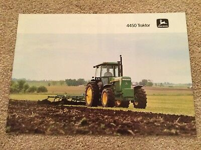 JOHN DEERE 4450 TRACTOR BROCHURE 80s FARM CLASSICS MODELS DUTCH