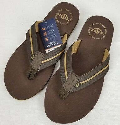 a53bdf4b83d Dockers Mens Size Large 9.5-10.5 Flip Flops Sandals New With Tags Beach  Brown